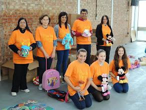 Photo: Newcastle - Volunteers at the Angels of the North clothing collection project.