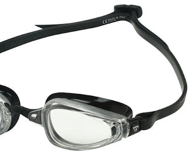 Michael Phelps K180 Goggles - Silver/Black with Clear Lens alternate image 3