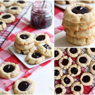 Thumbprint Cookies with Blueberry Lemon Jam.