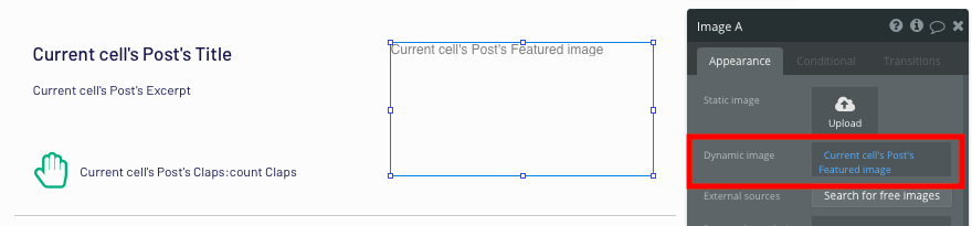 Bubble Blog No Code Medium Clone Dynamic Image