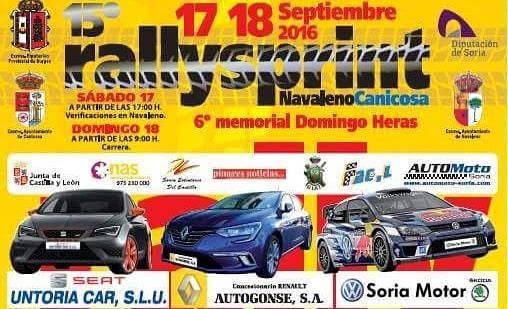XV Rallye-Sprint Navaleno - Canicosa 2016