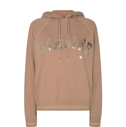 Mos Mosh Kash hoodie sweatshirt beige melange