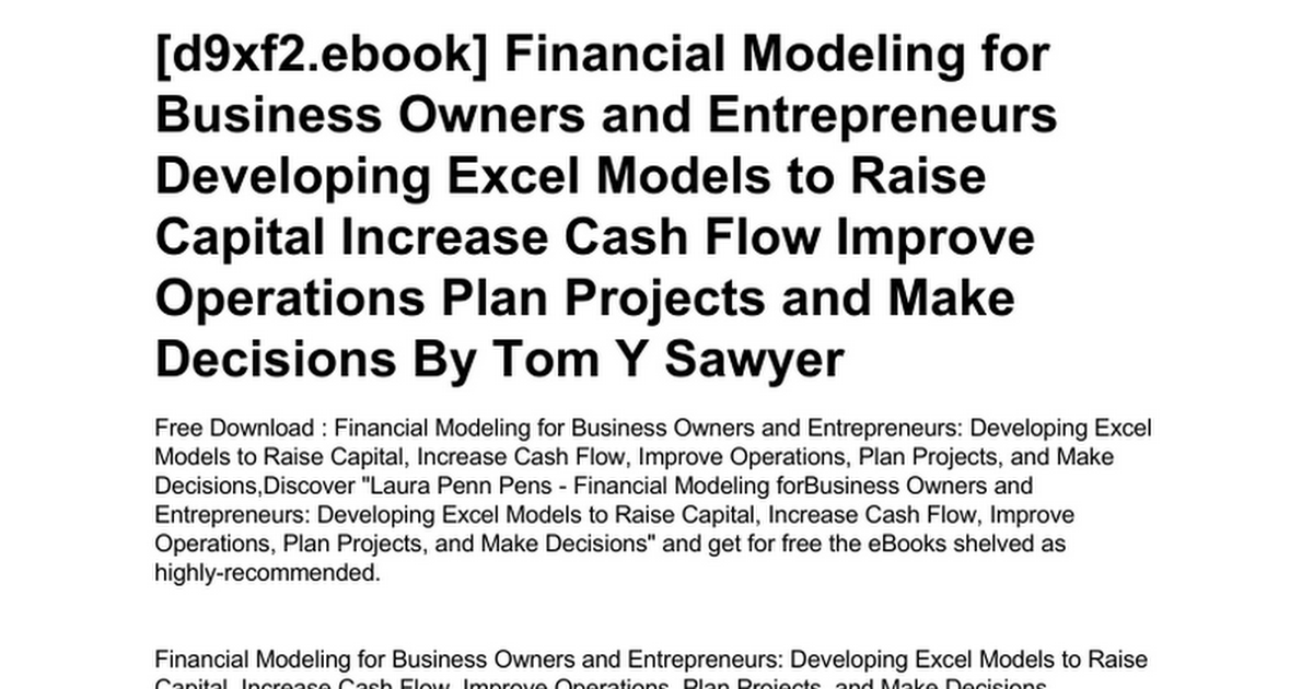 financial-modeling-for-business-owners-and-entrepreneurs