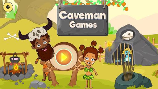 My Dinosaur Town - Jurassic Caveman Games for Kids 3.1 Screenshots 1