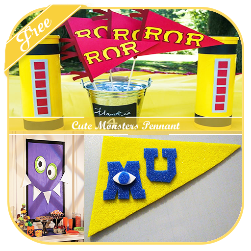 Cute Monsters Pennant