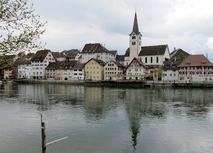 Photo: Day 33 - A View of a Lovely Town on the Opposite Bank (we think Diessenhofen)