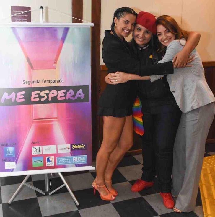Tai Xavier, Mariana Berardinelli e Dora Devin websérie me espera