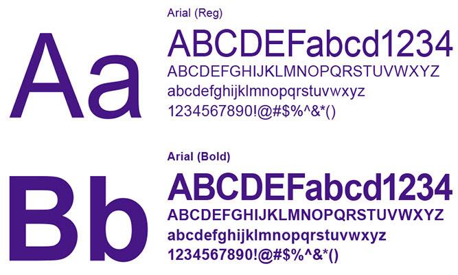 Sử dụng font mặc định để dễ đọc nội dung email