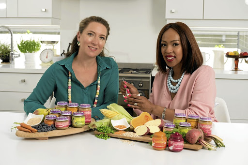 Bumbles Baby Food founder of the range Billie-Clare Dryden-Schofield with chief executive Nthabe Zondo.