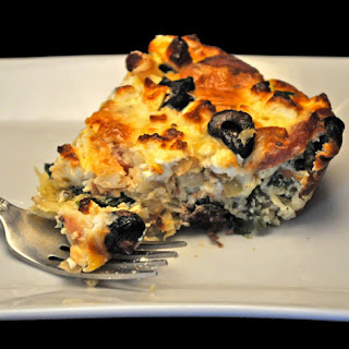 Sausage and Feta Quiche, Potato Crust