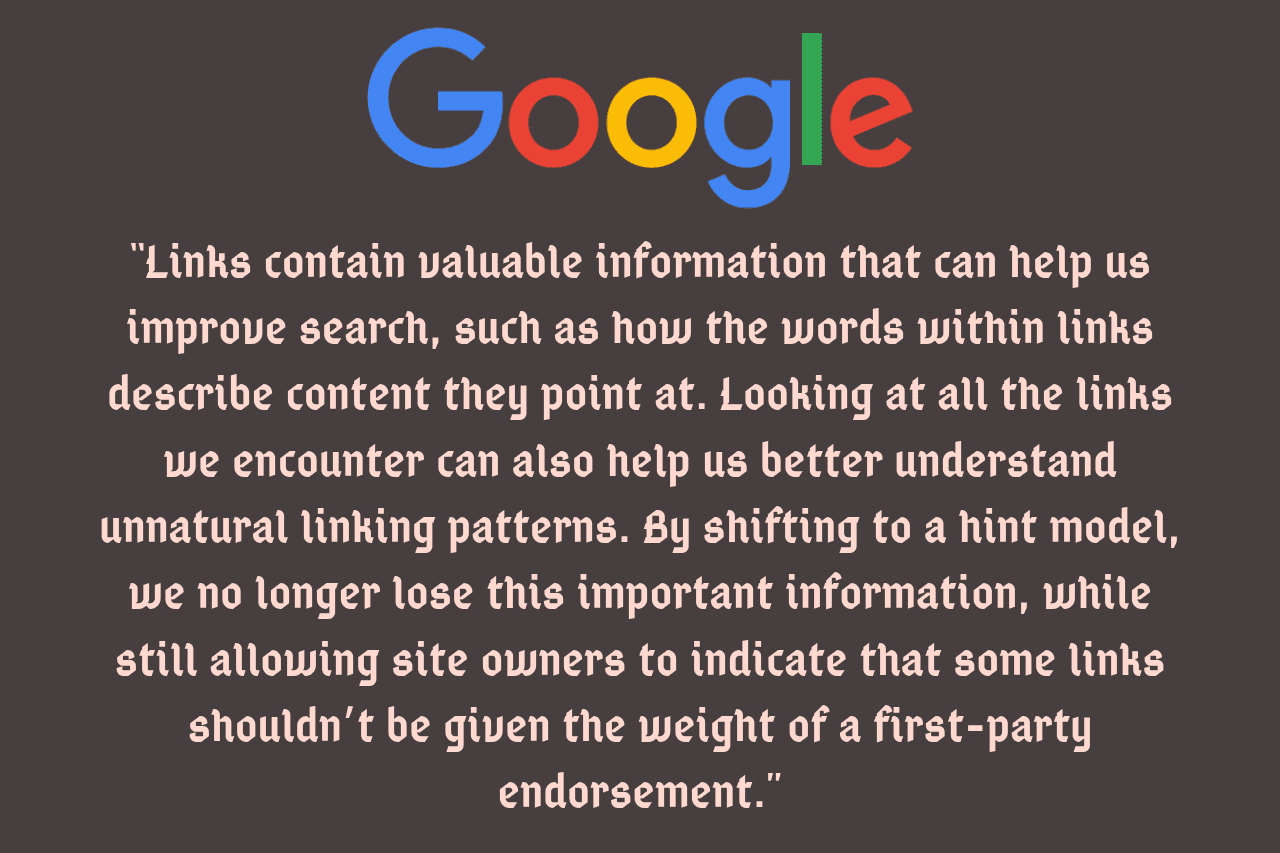 Google Two New Link Attributes