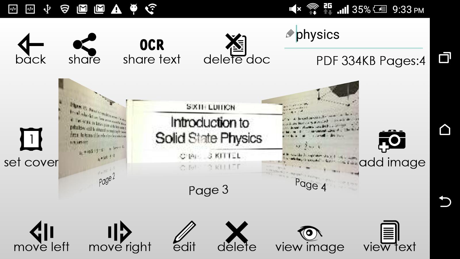 Scanner PDF- screenshot