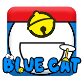 Blue Cat Keyboard🎨🎨Blue Cute Cat Keyboard