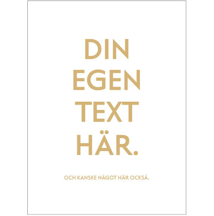 DIN EGEN TEXT CINQ