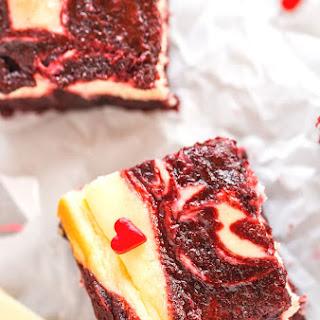 Red Velvet White Chocolate Cheesecake Brownie