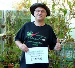 Photo: Siggi nach >100'000 Klicks auf YouTube (Oktober 2010) im neuen Tropenhaus.
