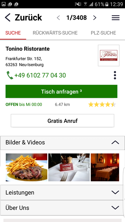 das telefonbuch lokale info android apps on google play. Black Bedroom Furniture Sets. Home Design Ideas