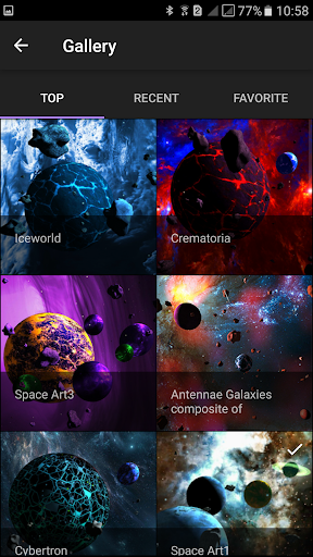 Asteroids 3D live wallpaper Screenshot