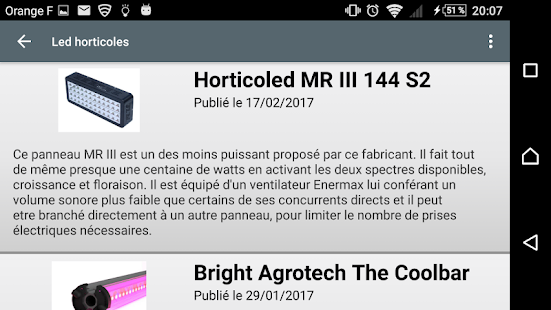 LED Horticoles- screenshot thumbnail