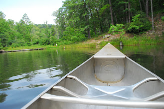 Photo: View of Lake Tawasi from our Grumman Canoes