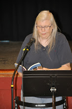 Photo: Mary K. Whittington reads one of her poems.