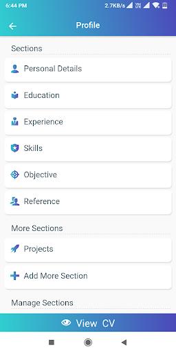 Resume Builder App Free CV maker CV templates 2020 screenshot 17