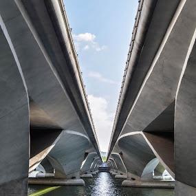The bridge by Tamin Ibrahim - Buildings & Architecture Bridges & Suspended Structures ( building, transportation, bridge, architecture, river )