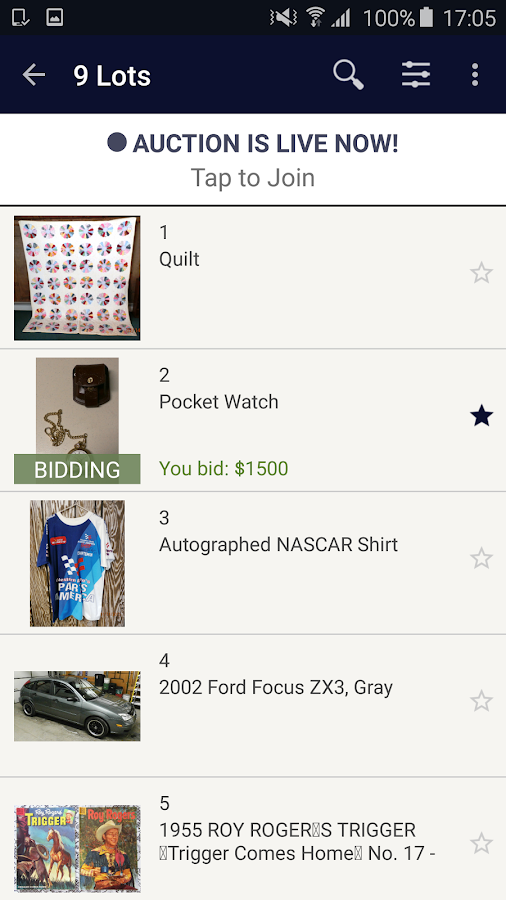 True Blue Auctions- screenshot