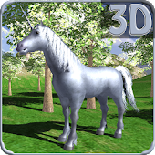 Unicorn Horse Mountain Sim 3D