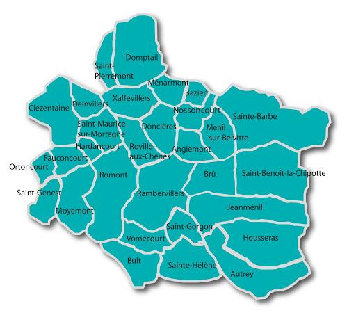 Communes membres de la 2c2r