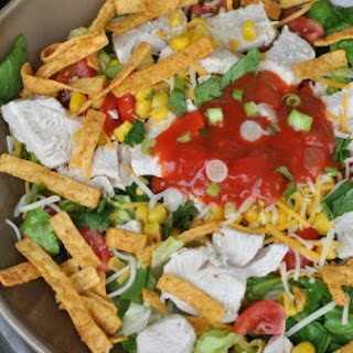 Weight Watchers Layered Chicken Taco Salad