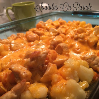Buffalo Chicken Cheesy Potato Casserole - UYW