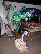 Photo: Tree with doves, Swan & bunny for Willdlife Rehab Center fundraiser held at John Ball Zoo