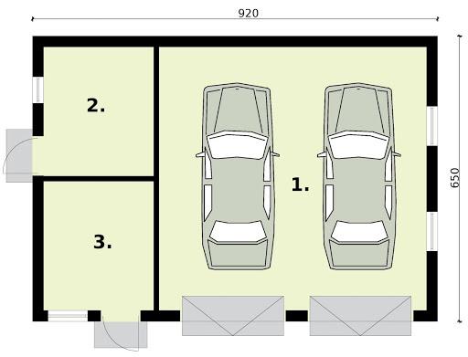 G3 - Rzut garażu