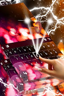 Party Lights Keyboard Theme - náhled