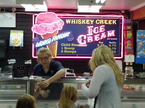 Photo: Making a stop at the celebrated Whiskey Creek Ice Cream shop