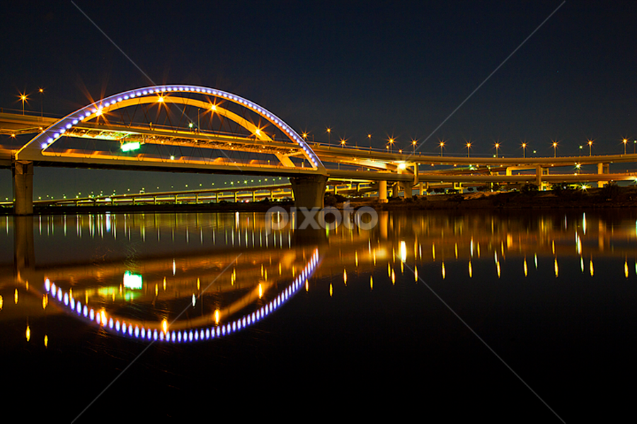 Arakawa Bridge by Nyoman Sundra - Buildings & Architecture Bridges & Suspended Structures ( japan, beautiful, tokyo, arakawa, brige, river )