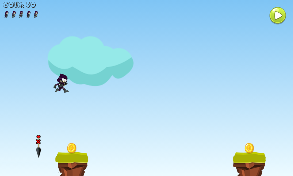 "jumping ninja ""Kakashi""- screenshot"