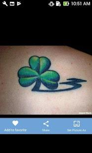 Trebol Tatuaje diseños del tatuaje del trébol - aplicaciones en google play