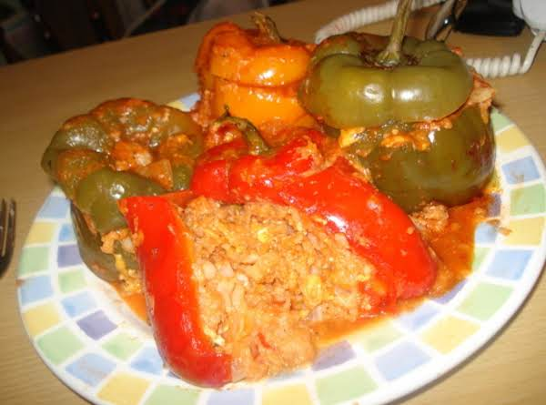 Stuffed Chedar Bell Peppers Recipe