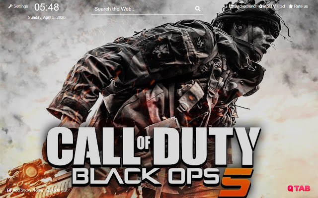 Call Of Duty Black Ops 5 Wallpapers New Tab