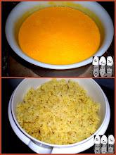 Photo: soupe de carottes au curry, riz thaï au curry et oignon