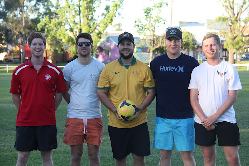 2011 Narrabri Cougars players: Elijah Barnes (who now plays for Armidale-based side Norths United in the NIPL), Rhys Hayne, Mathew Dunn and Zaac Brayshaw (who now all play for Namoi United in the NIPL) and Jack Tame (who no longer plays soccer).