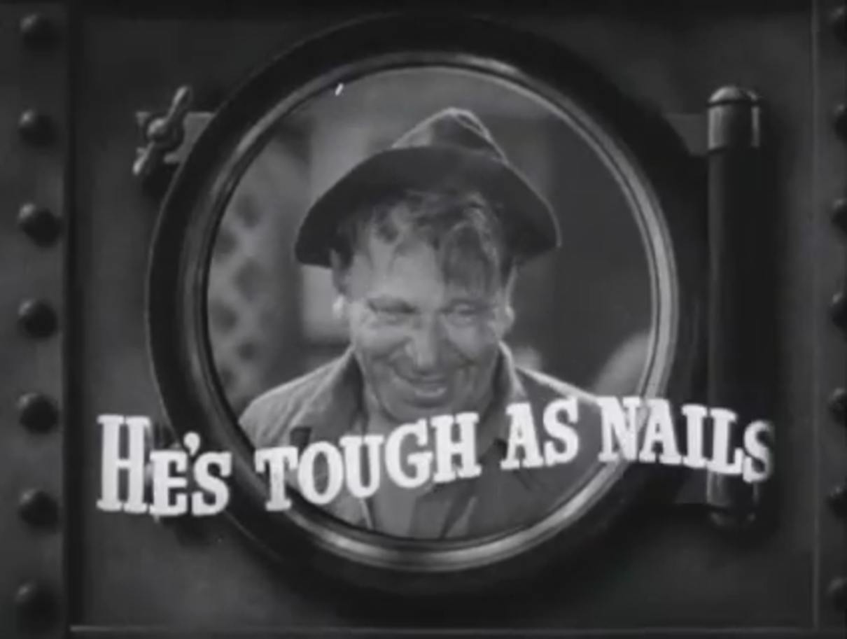 Wallace Beery as Barnacle Bill the sailor.