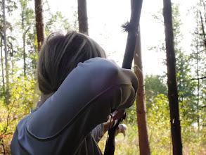 Photo: Marcela střílí
