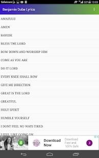 Benjamin Dube Lyrics - náhled