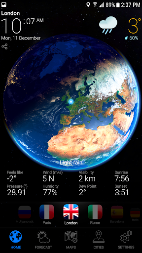 WEATHER NOW Premium US Forecast, 3D Earth & Widget  screenshots 9