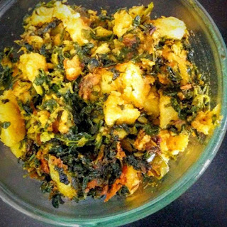 Aloo Methi Recipe (Potatoes with Fenugreek Leaves)