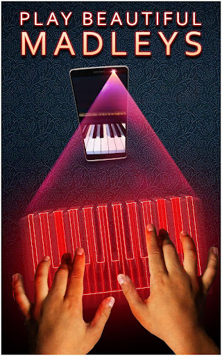 Hologram 3D Piano Prank