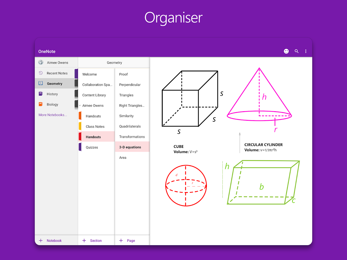 OneNote – screenshot